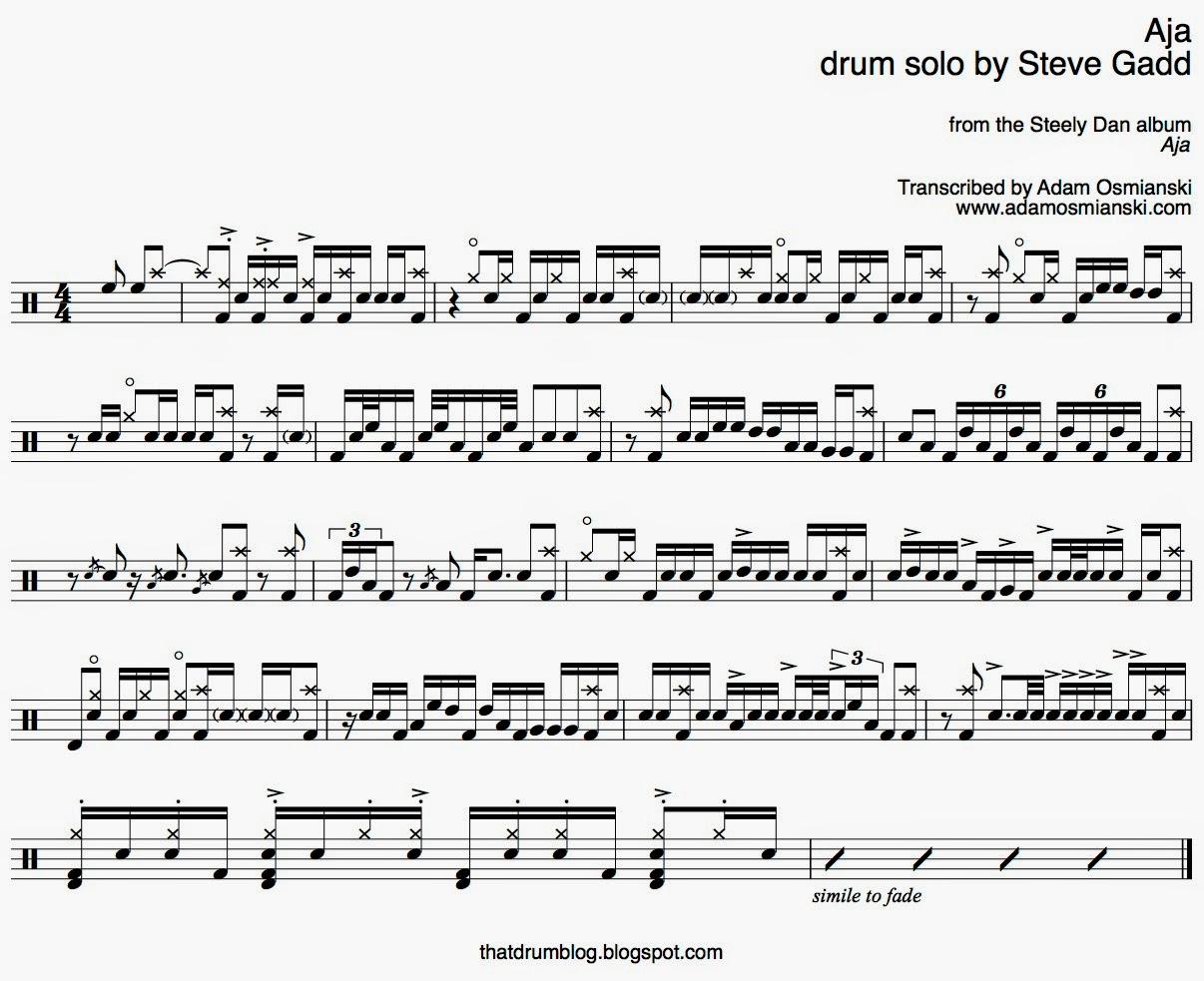 That Drum Blog: Solo Transcription - Steve Gadd,