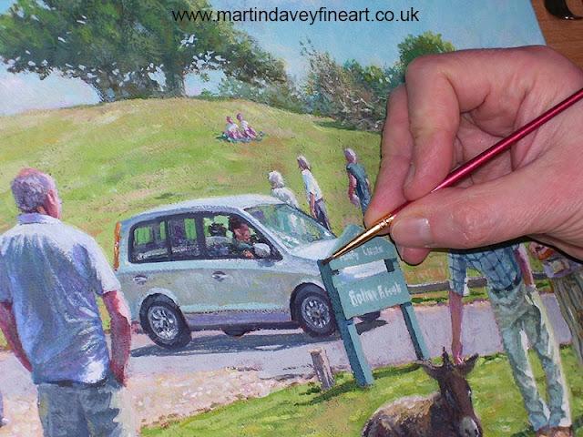 lyndhurst hill art Hampshire Martin Davey