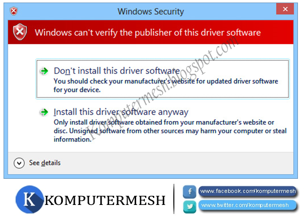 Cara Menonaktifkan (Disable) Driver Signature Enforcement Windows