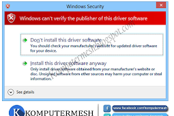 Cara Menonaktifkan (Disable) Driver Signature Enforcement Windows