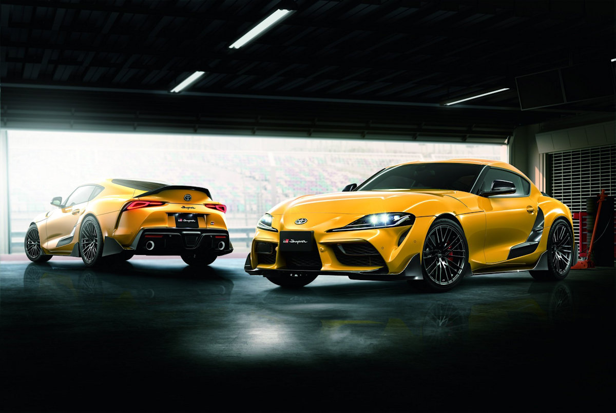bba005e5ed The Toyota Supra just launched in Japan and with it, the first batch of TRD  upgrades. More of aero parts than performance upgrades, these carbon fiber  ...