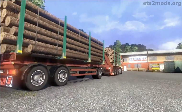 MAN Timber Truck and trailer