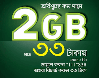 Teletalk Internet Offer | 2GB internet data at only 33TK