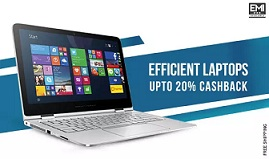 Flat 15% Extra Cashback on Laptops (All Brands) @ Paytm