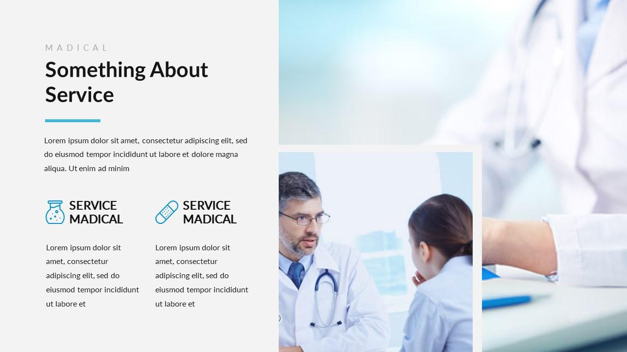 عرض بوربوينت طبي للأطباء قابل للتعديل