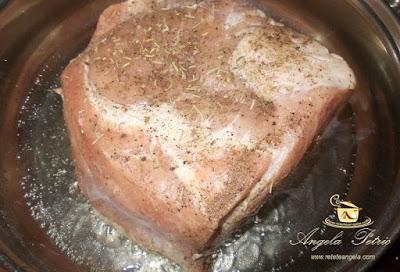Preparare friptura de porc inabusita-etapa 2
