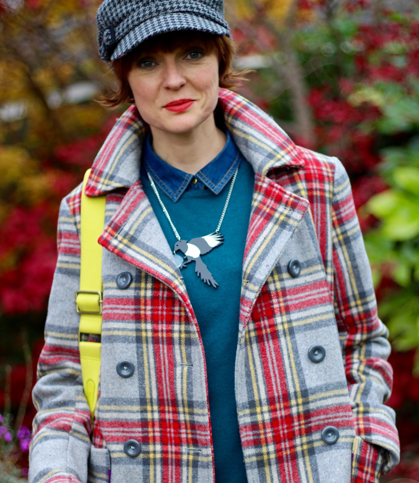 Tartan reefer & a Baker boy Cap, over 40 | Fake Fabulous