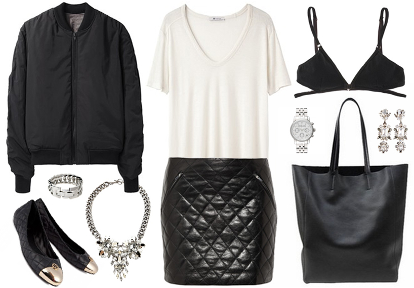 styling quilted skirt
