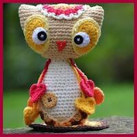 Lindo búho a crochet