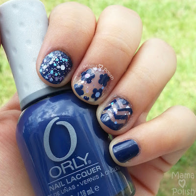 negative space manicure with orly la playa