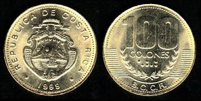 Costa Rica  100 Colones (1999+) Coin