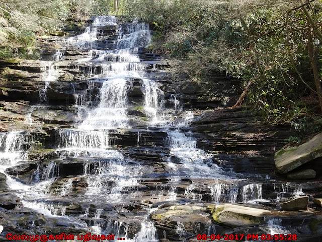 Minnehaha cascading waterfall Near Atlanta