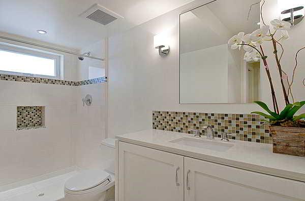 27 banheiros decorados  grandes e pequenos Confira!  Decor Alternativa -> Fotos De Banheiro Social Simples