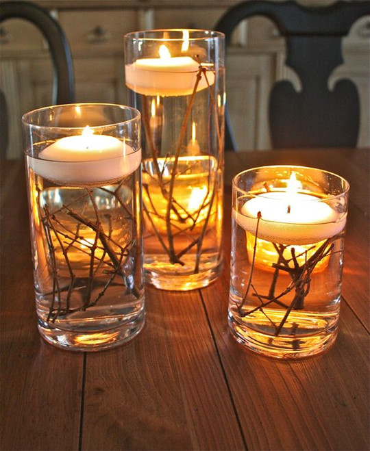DIY rustic wedding idea Mason Jar Candle Holder