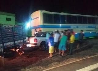 Ônibus da Novo Horizonte quebra