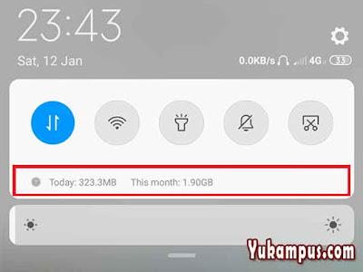 cara menampilkan notifikasi penggunaan data hp xiaomi
