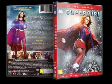 Capa DVD Supergirl - Segunda Temporada - Disco 3