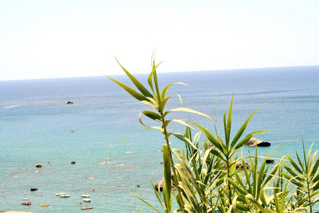 mare, acqua, vista, vegetazione, barche, isola, Ischia, cielo
