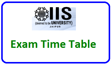 IIS University Exam Time Table April/May 2021