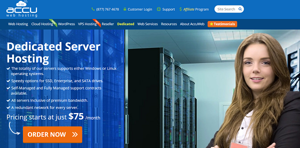 AccuWebHosting Dedicated Server