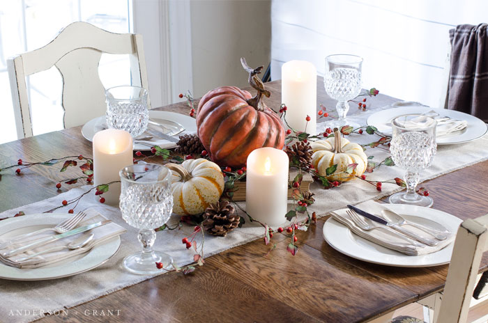 Setting a Simple Thanksgiving Table |  www.andersonandgrant.com