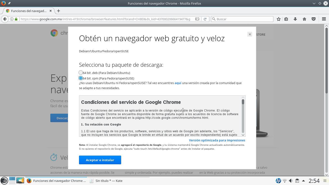 Instalar google chrome en Opensuse Leap | Novedad23
