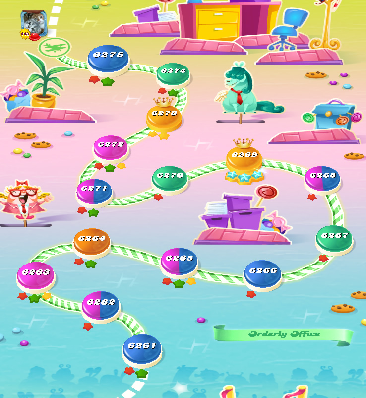 Candy Crush Saga level 6261-6275