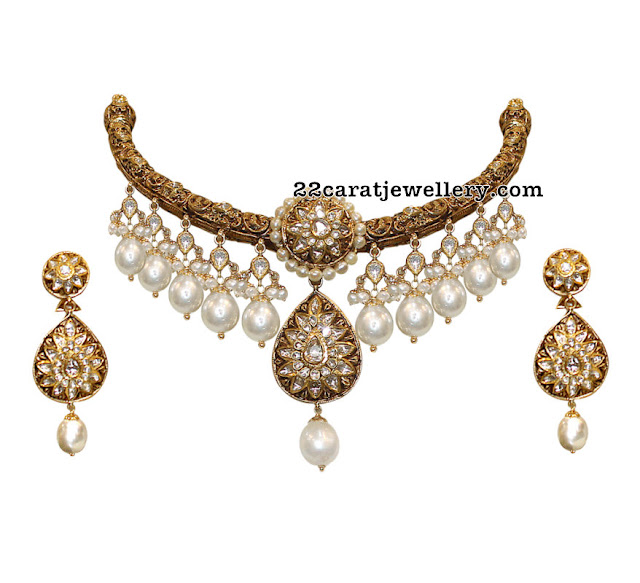 Antique Choker with South Pearl Drops