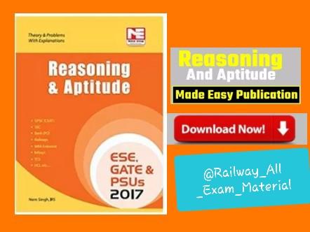 Reasoning And Aptitude Book PDF : Made Easy Publication Nem Singh [Download]