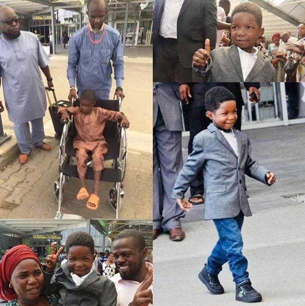 Chibok Boy Ran Over By Boko Haram Returns After Surgery. See His Swag (Pics)