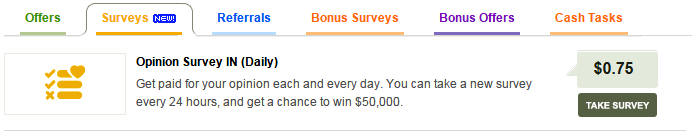 Participate in surveys provided by cash crate.