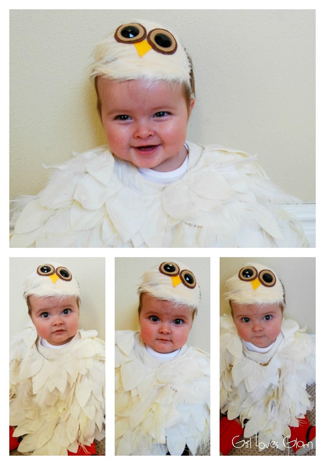 sc 1 st  Girl Loves Glam & No Sew Baby Owl Costume - Girl Loves Glam