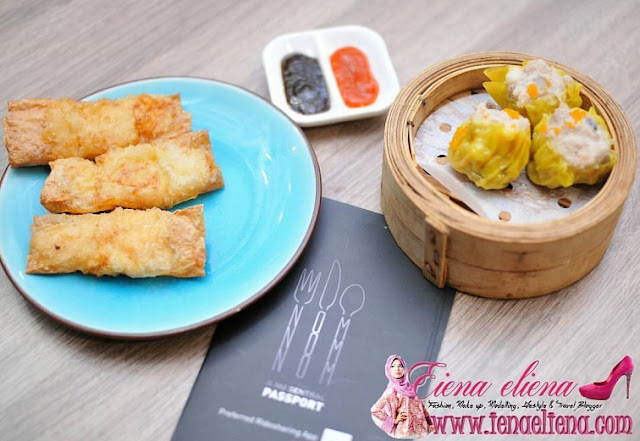 Siew mai dumpling dan Dolly Mozza Roll  di Dolly Dim Sum Nu Sentral