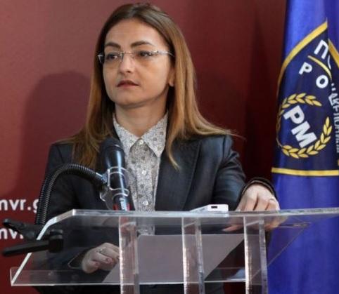 Gordana Jankulovska in press conference