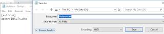 cara membuat cd/dvd autorun tanpa aplikasi