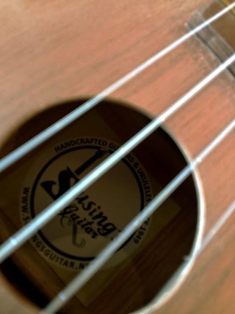 Susing's Guitar-branded ukuleles at UkeHUB Kafe in Mactan Island Lapulapu City Cebu Philippines