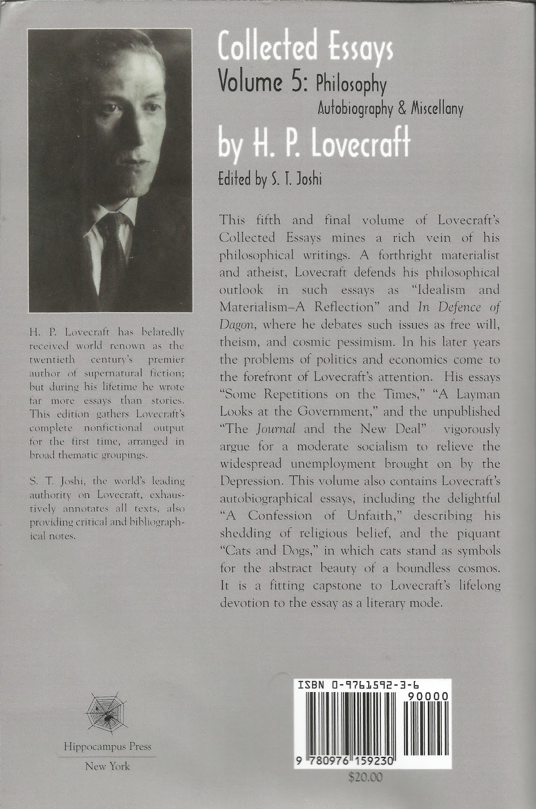 the truth inside the lie considering h p lovecraft part  for those of you not keeping track that s over 1200 pages worth of essays and i can t get even one collection of stephen king nonfiction
