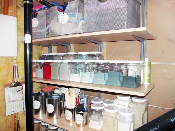 Small utility room shelving solution the best way to - Supplies needed to paint a room ...