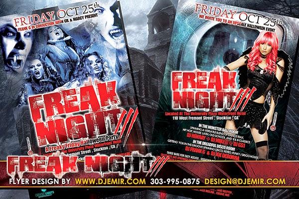 Freak Night 3 Halloween Flyer Design