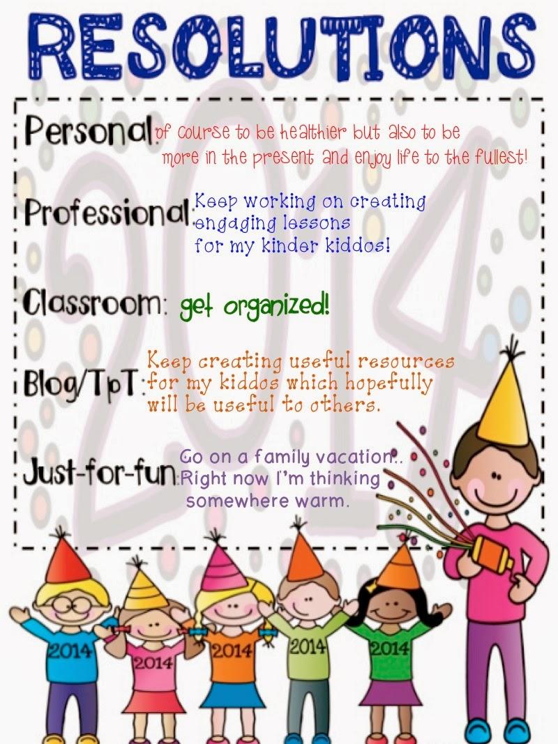 2 Scoops of Kindergarten: New Years Resolutions!