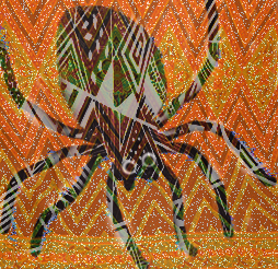 Ananse carrier of messages teller of stories and means spider in Akan. This is why the carrier of messages or stories is usually depicted as a spider.