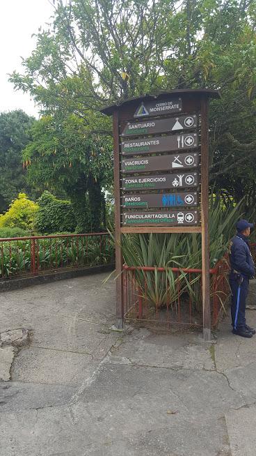 Sinalização no Cerro de Monserrate - Bogotá