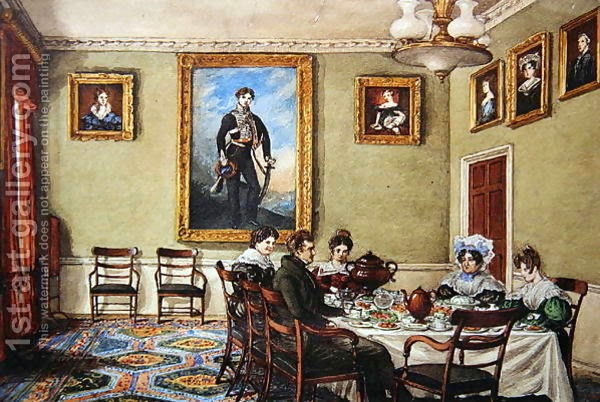 Dining-room at Langton Hall, Family at Breackfast, Mary Ellen Best