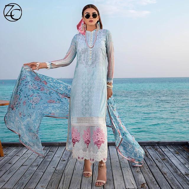 Zainab Chottani Luxury Lawn Chikankari Collection 2020
