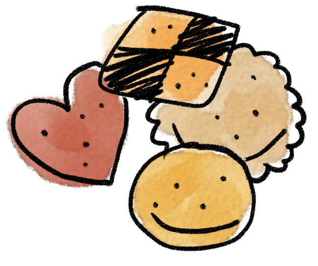 クッキーのイラスト お菓子 ゆるかわいい無料イラスト素材集