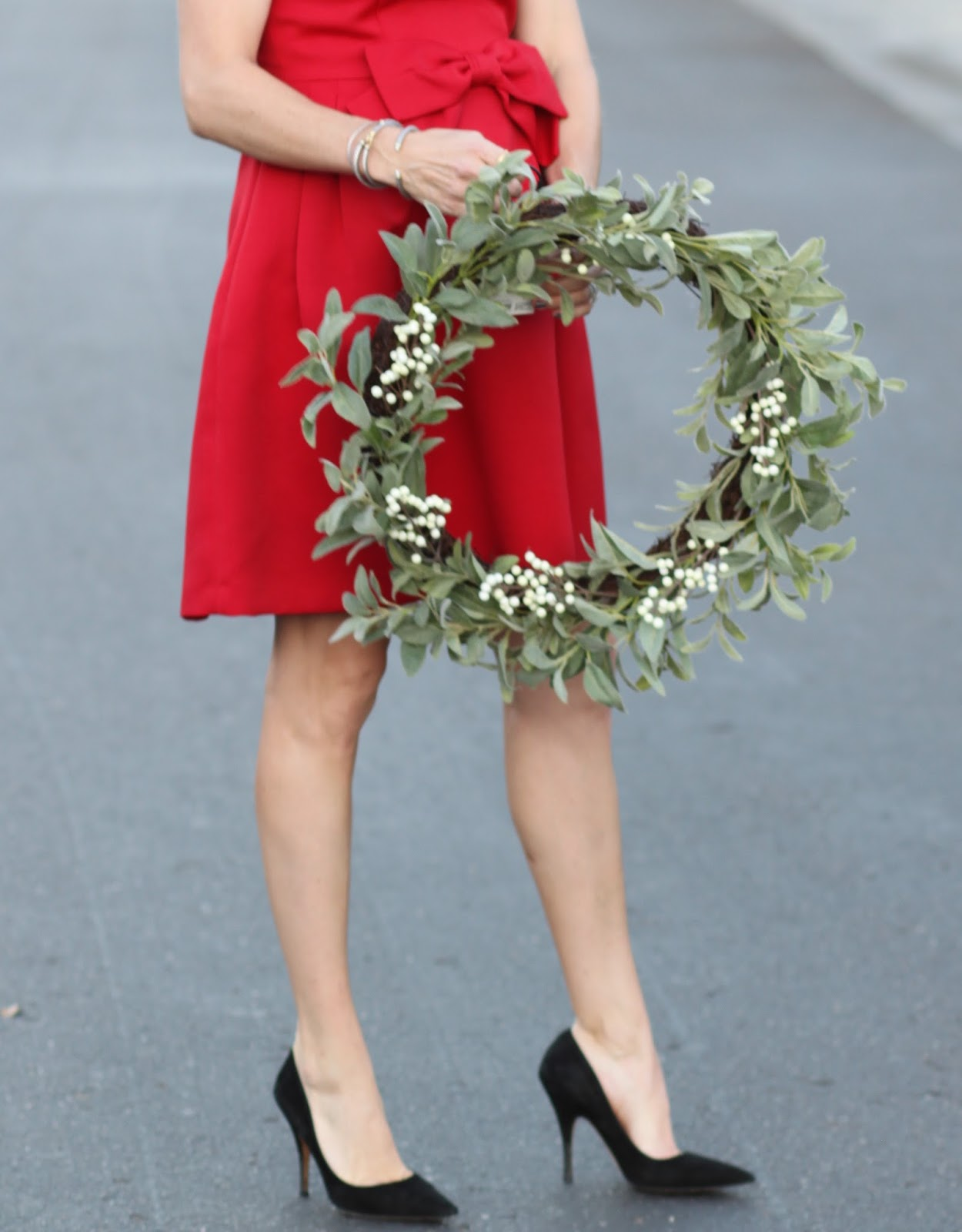 wreath and dress