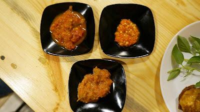 3 jenis sambal tambahan ala Saung Kedah