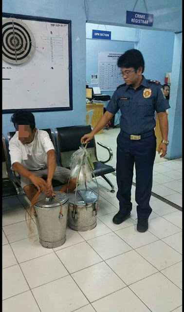 A Man Who Sells Taho For A Living Was Arrested After They Saw THIS Underneath His Taho Buckets!
