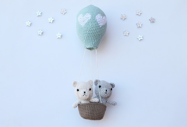 """amigurumi"" ""hot air balloon"" ""crochet"""