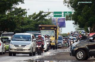 Panjang kemacetan simpang empat handil bakti